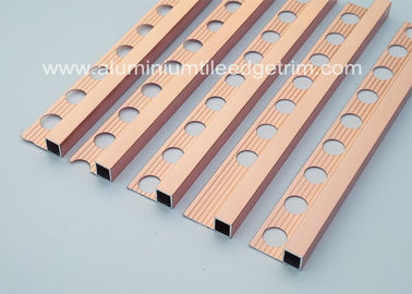 Durable 10mm Metal Square Edge Tile Trim For Counter Top Or Window Sill