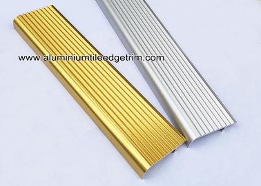 F Type Toothed Anti - Skid  Metal Aluminum Stair Nosing For Tile